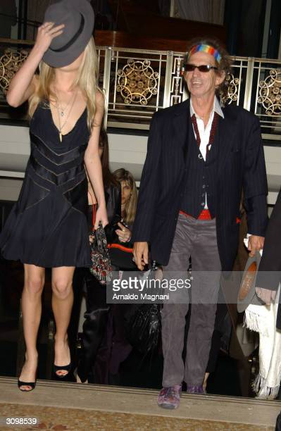 Musician Keith Richards and his daughter arrive at the Rock Roll Hall Of Fame 19th Annual Induction Dinner at the Waldorf Astoria Hotel March 15 2004...