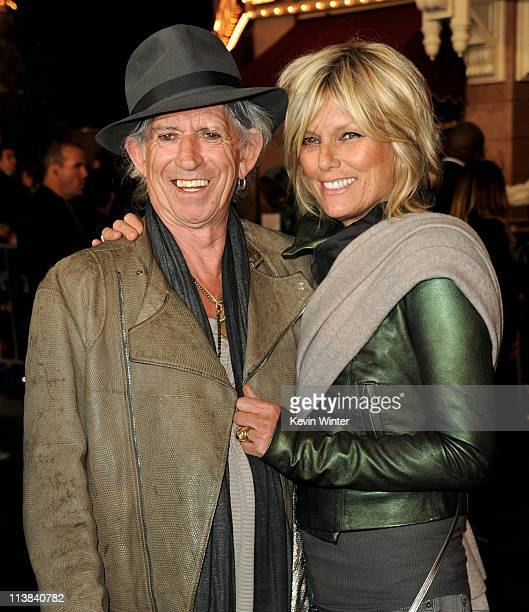 Musician Keith Richards and his wife Patti Hansen arrive at the premiere of Walt Disney Pictures' 'Pirates of the Caribbean On Stranger Tides' at...