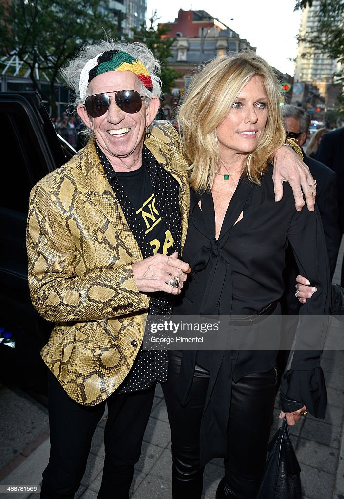 Musician Keith Richards (L) and Patti Hansen attend the 'Keith Richards: Under The Influence' premiere during the 2015 Toronto International Film Festival at Princess of Wales Theatre on September 17, 2015 in Toronto, Canada.