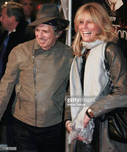 Musician Keith Richards and wife Patti Hansen attend the New York Premiere of the movie 'Sweeney Todd The Demon Barber Of Fleet Street' at the...