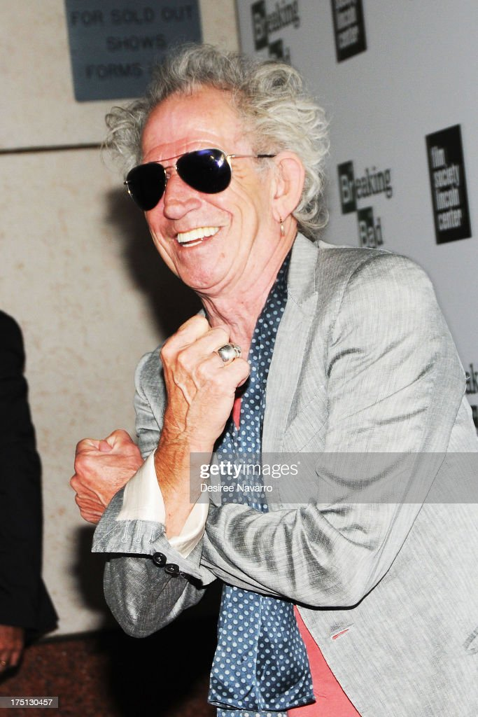 Musician <a gi-track='captionPersonalityLinkClicked' href=/galleries/search?phrase=Keith+Richards+-+Musician&family=editorial&specificpeople=202882 ng-click='$event.stopPropagation()'>Keith Richards</a> attends The Film Society Of Lincoln Center And AMC Celebration Of 'Breaking Bad' Final Episodes at The Film Society of Lincoln Center, Walter Reade Theatre on July 31, 2013 in New York City.