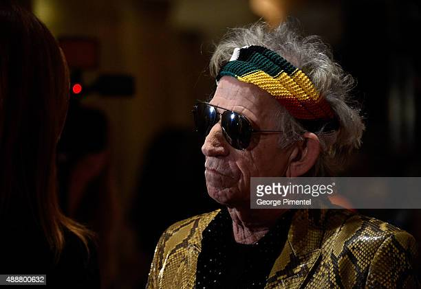 Musician Keith Richards attends the 'Keith Richards Under The Influence' premiere during the 2015 Toronto International Film Festival at Princess of...