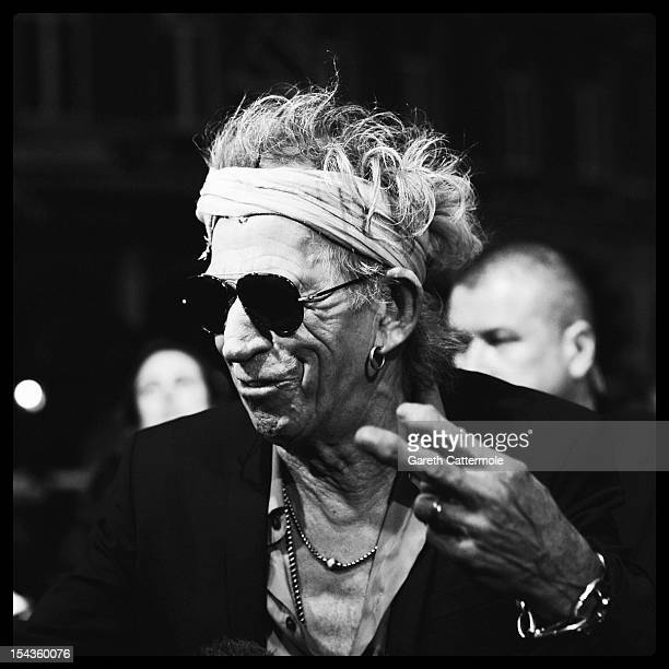 Musician Keith Richards attends the Premiere of 'Crossfire Hurricane' during the 56th BFI London Film Festival at Odeon Leicester Square on October...