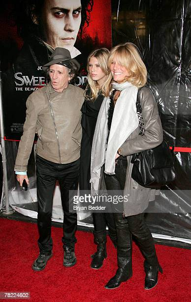 Musician Keith Richards daughter Alexandra Richards and wife Patti Hansen attend the New York premiere of 'Sweeney Todd The Demon Barber Of Fleet...