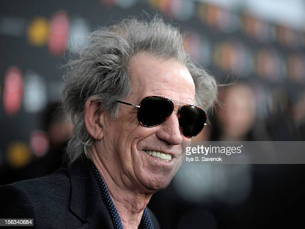 Musician Keith Richards of The Rolling Stones attends 'The Rolling Stones Crossfire Hurricane' Premiere at Ziegfeld Theater on November 13 2012 in...