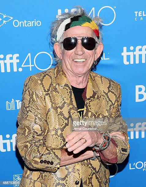 Musician Keith Richards speaks onstage during the 'Keith Richards Under The Influence' press conference at the 2015 Toronto International Film...