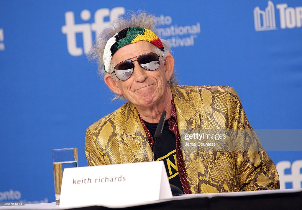 Musician Keith Richards speaks onstage during the 'Keith Richards: Under The Influence' press conference at the 2015 Toronto International Film Festival at TIFF Bell Lightbox on September 17, 2015 in Toronto, Canada.