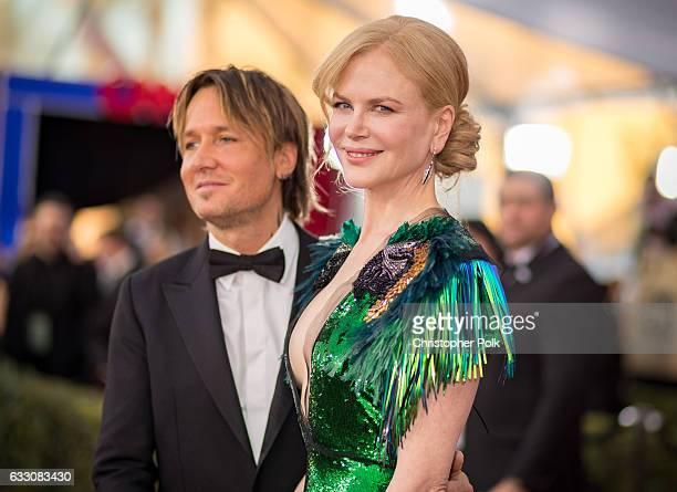 Musician Keith Urban and actor Nicole Kidman attend The 23rd Annual Screen Actors Guild Awards at The Shrine Auditorium on January 29 2017 in Los...