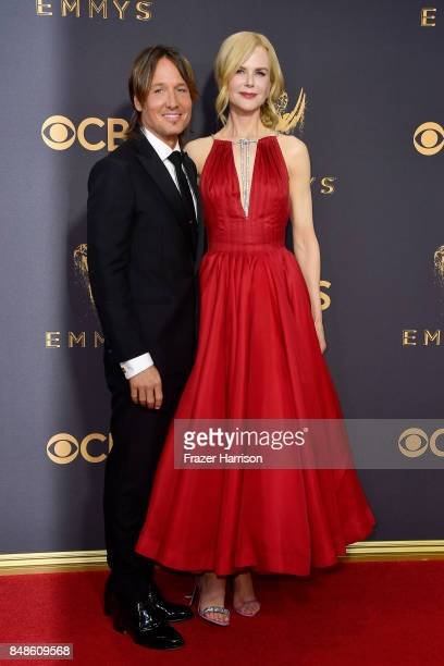 Musician Keith Urban and actor Nicole Kidman attend the 69th Annual Primetime Emmy Awards at Microsoft Theater on September 17 2017 in Los Angeles...