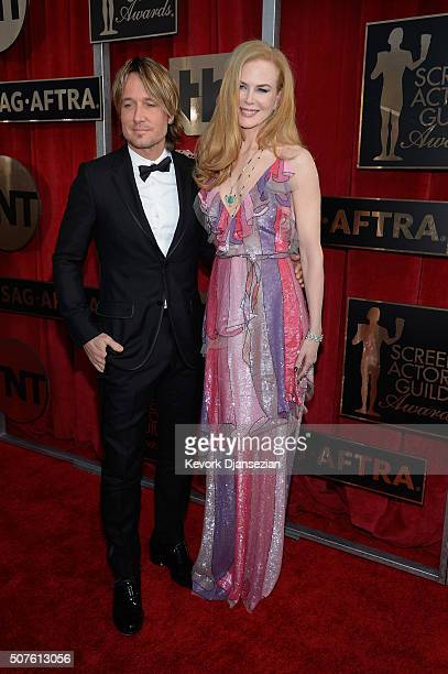 Musician Keith Urban and actress Nicole Kidman attend the 22nd Annual Screen Actors Guild Awards at The Shrine Auditorium on January 30 2016 in Los...
