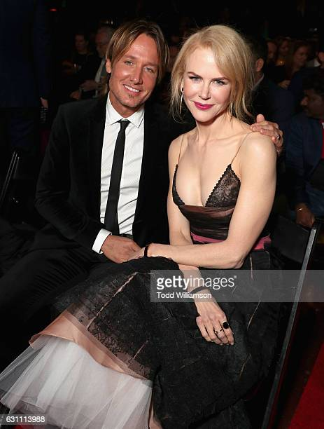 Musician Keith Urban and actress Nicole Kidman attend The 6th AACTA International Awards on January 6 2017 in Los Angeles California
