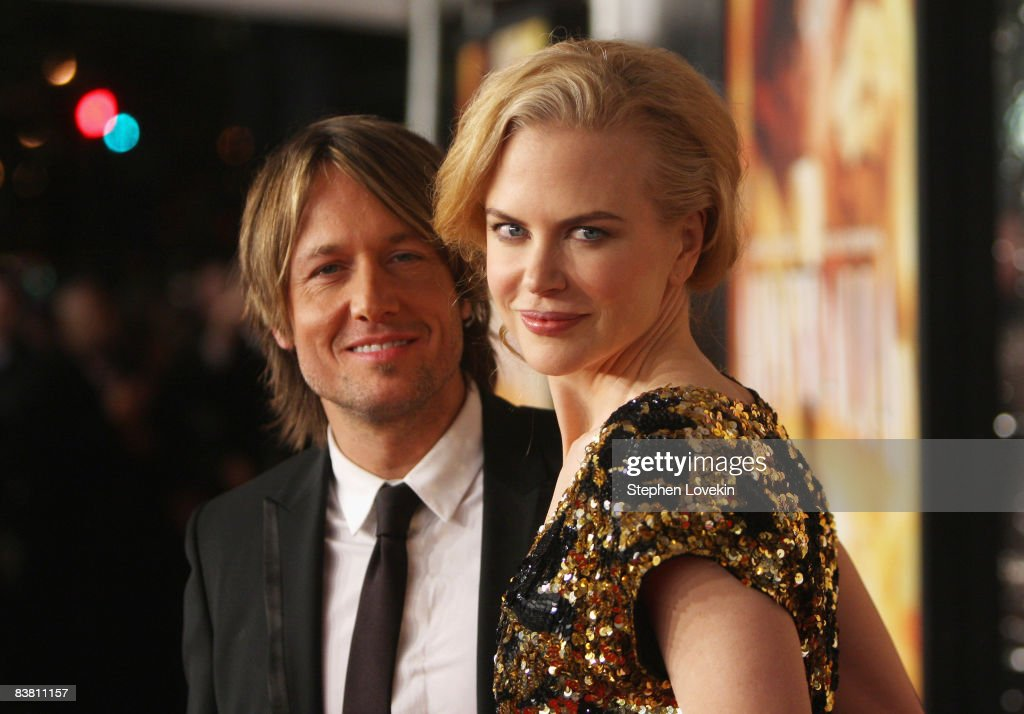 Musician Keith Urban and actress <a gi-track='captionPersonalityLinkClicked' href=/galleries/search?phrase=Nicole+Kidman&family=editorial&specificpeople=156404 ng-click='$event.stopPropagation()'>Nicole Kidman</a> attend the premiere of 'Australia' at the Ziegfeld Theater on November 24, 2008 in New York City.