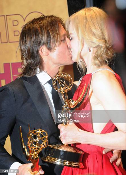 Musician Keith Urban and wife/actress Nicole Kidman arrive for the HBO's Post Emmy Awards Reception held at The Plaza at the Pacific Design Center on...