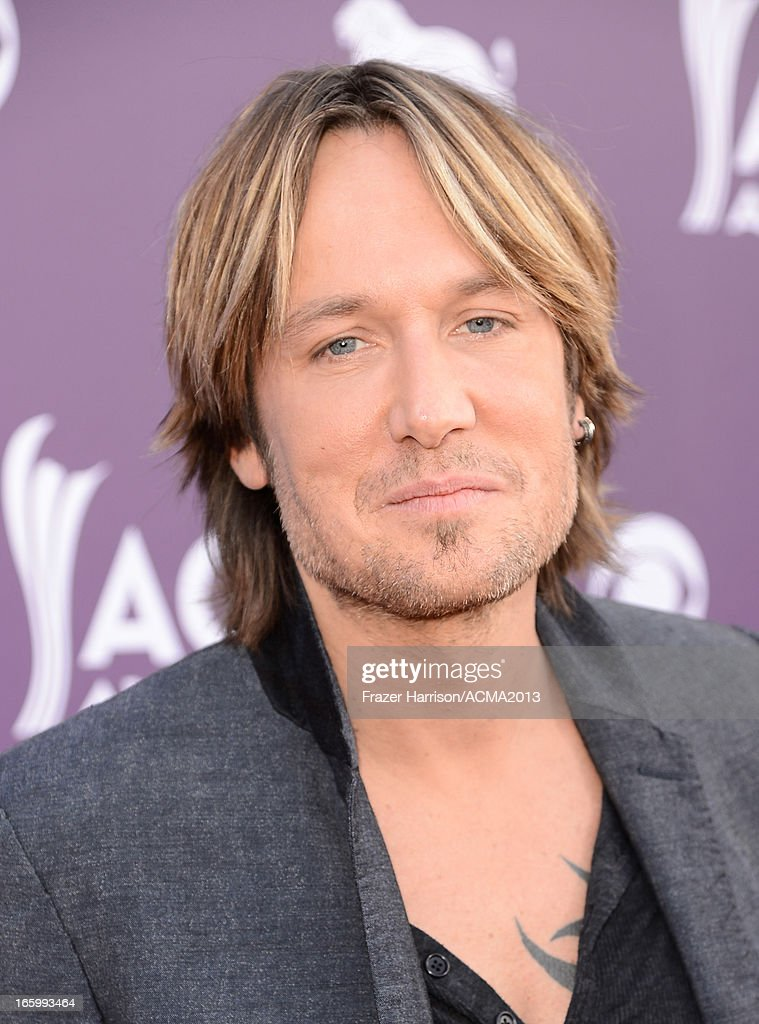 Musician Keith Urban arrives at the 48th Annual Academy of Country Music Awards at the MGM Grand Garden Arena on April 7, 2013 in Las Vegas, Nevada.