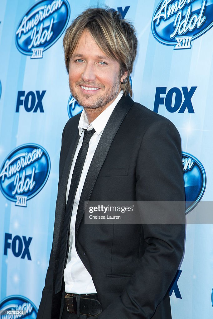 Musician Keith Urban arrives at the American Idol XIII grand finale at Nokia Theatre L.A. Live on May 21, 2014 in Los Angeles, California.