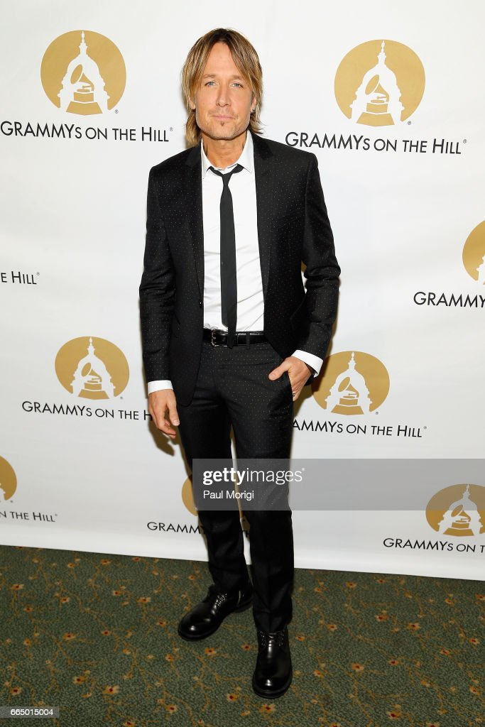 Musician Keith Urban at The Recording Academy®'s 2017 GRAMMYs on the Hill® Awards on April 5 to honor four-time GRAMMY® winner Keith Urban with the Recording Artists' Coalition® Award for his musical achievements and commitment to numerous music education programs. The Academy also honored Sens. Susan Collins (R-Maine) and Tom Udall (D-N.M.) for their ongoing support of music programs and the National Endowment for the Arts. The GRAMMYs on the Hill Awards were sponsored by performance rights organization SESAC. Event proceeds benefitted the GRAMMY Museum®. For more information about The Academy's advocacy efforts, visit grammy.com/action, and follow the online conversation on Twitter @GRAMMYAdvocacy, #SupportMusic, and 'like' GRAMMY Advocacy on Facebook.