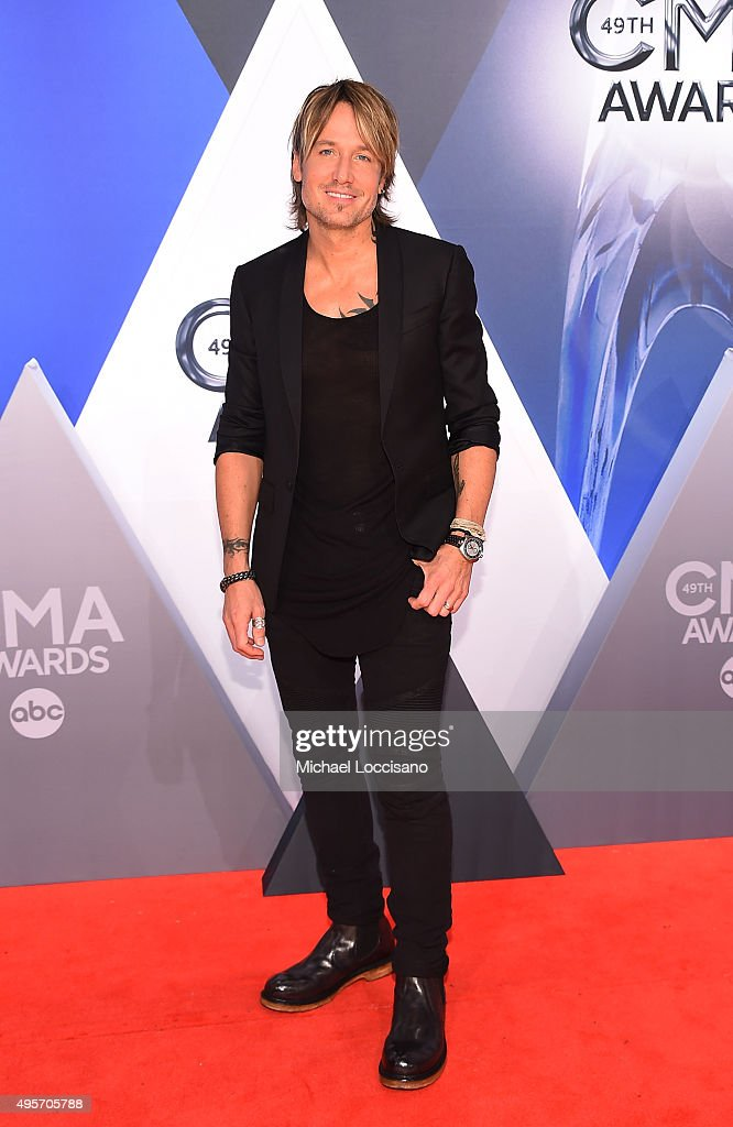 Musician <a gi-track='captionPersonalityLinkClicked' href=/galleries/search?phrase=Keith+Urban&family=editorial&specificpeople=202997 ng-click='$event.stopPropagation()'>Keith Urban</a> attends the 49th annual CMA Awards at the Bridgestone Arena on November 4, 2015 in Nashville, Tennessee.