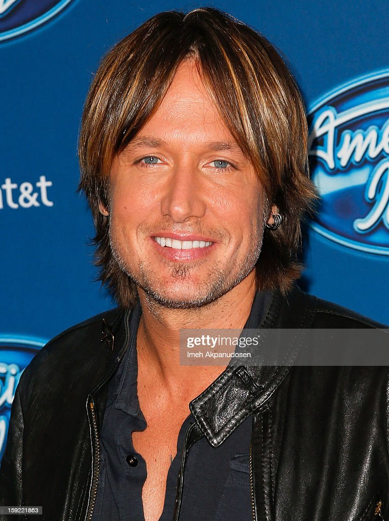 Musician Keith Urban attends the season premiere screening of Fox's 'American Idol' at Royce Hall, UCLA on January 9, 2013 in Westwood, California.
