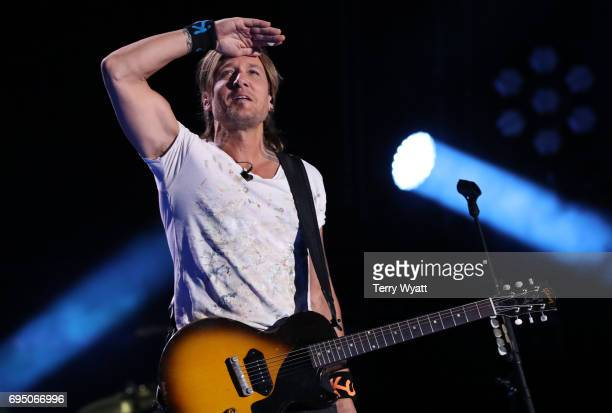Musician Keith Urban performs during day 4 of the 2017 CMA Music Festival on June 11 2017 in Nashville Tennessee