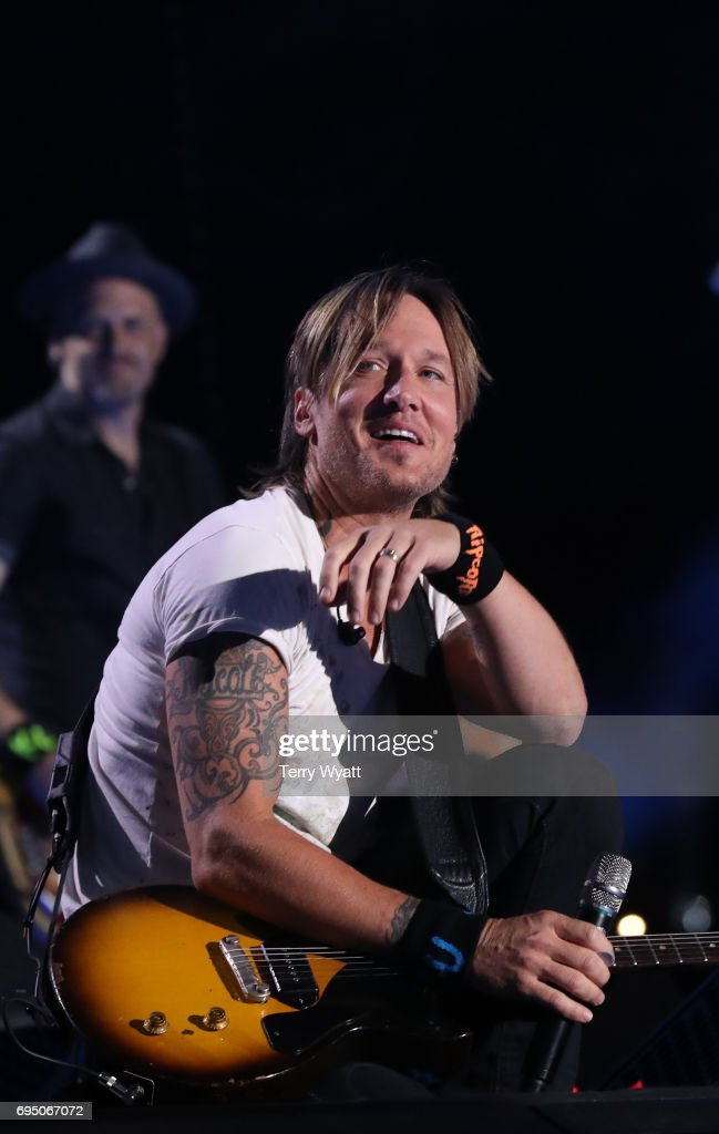 Musician Keith Urban performs during day 4 of the 2017 CMA Music Festival on June 11, 2017 in Nashville, Tennessee.