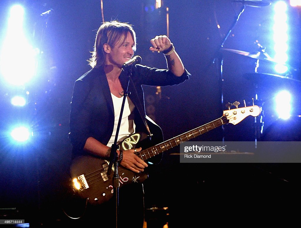 Musician <a gi-track='captionPersonalityLinkClicked' href=/galleries/search?phrase=Keith+Urban&family=editorial&specificpeople=202997 ng-click='$event.stopPropagation()'>Keith Urban</a> performs onstage at the 49th annual CMA Awards at the Bridgestone Arena on November 4, 2015 in Nashville, Tennessee.