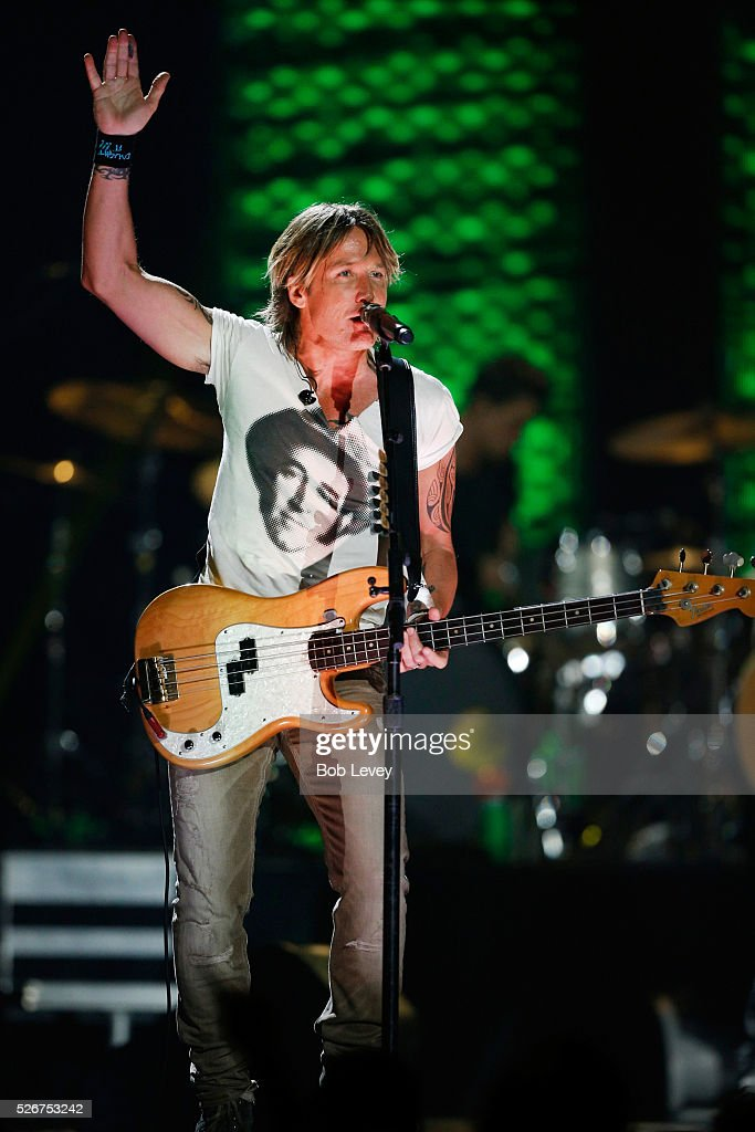 Musician Keith Urban performs onstage during the 2016 iHeartCountry Festival at The Frank Erwin Center on April 30, 2016 in Austin, Texas.