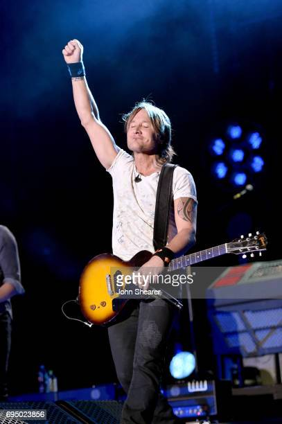 Musician Keith Urban performs onstage for day 4 of the 2017 CMA Music Festival on June 11 2017 in Nashville Tennessee