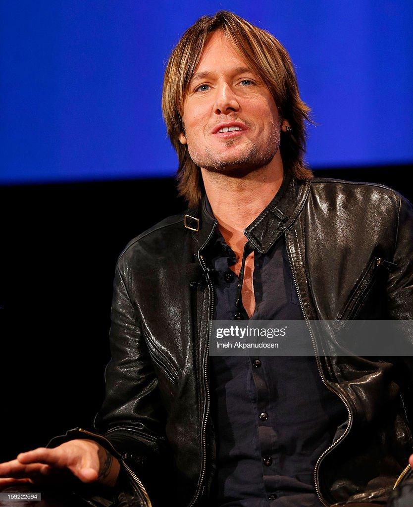 Musician Keith Urban speaks during a live Q&A during the season premiere screening of Fox's 'American Idol' at Royce Hall, UCLA on January 9, 2013 in Westwood, California.