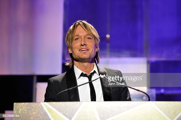 Musician Keith Urban speaks onstage during the 2017 G'Day Black Tie Gala at Governors Ballroom At Hollywood And Highland on January 28 2017 in...