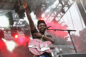 Musician Kele Okereke of Bloc Party performs at the Twin Peaks Stage during day 3 of the 2012 Outside Lands Music and Arts Festival at Golden Gate...
