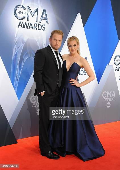 Musician Kellie Pickler and husband Kyle Jacobs attend the 49th annual CMA Awards at the Bridgestone Arena on November 4 2015 in Nashville Tennessee
