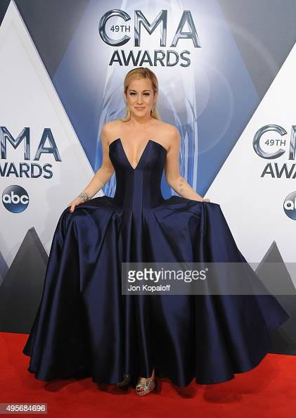 Musician Kellie Pickler attends the 49th annual CMA Awards at the Bridgestone Arena on November 4 2015 in Nashville Tennessee