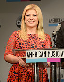 Musician Kelly Clarkson speaks onstage at the 2013 American Music Awards Nominations Press Conference at BB King Blues Club Grill on October 10 2013...