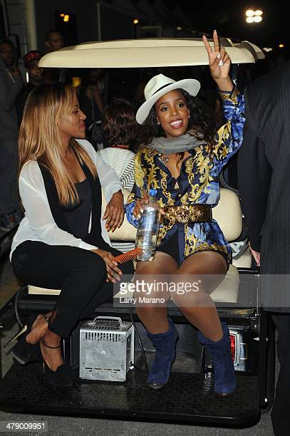 Musician Kelly Rowland attends Day 1 of Jazz In The Gardens at Sun Life Stadium on March 15 2014 in Miami Gardens Florida