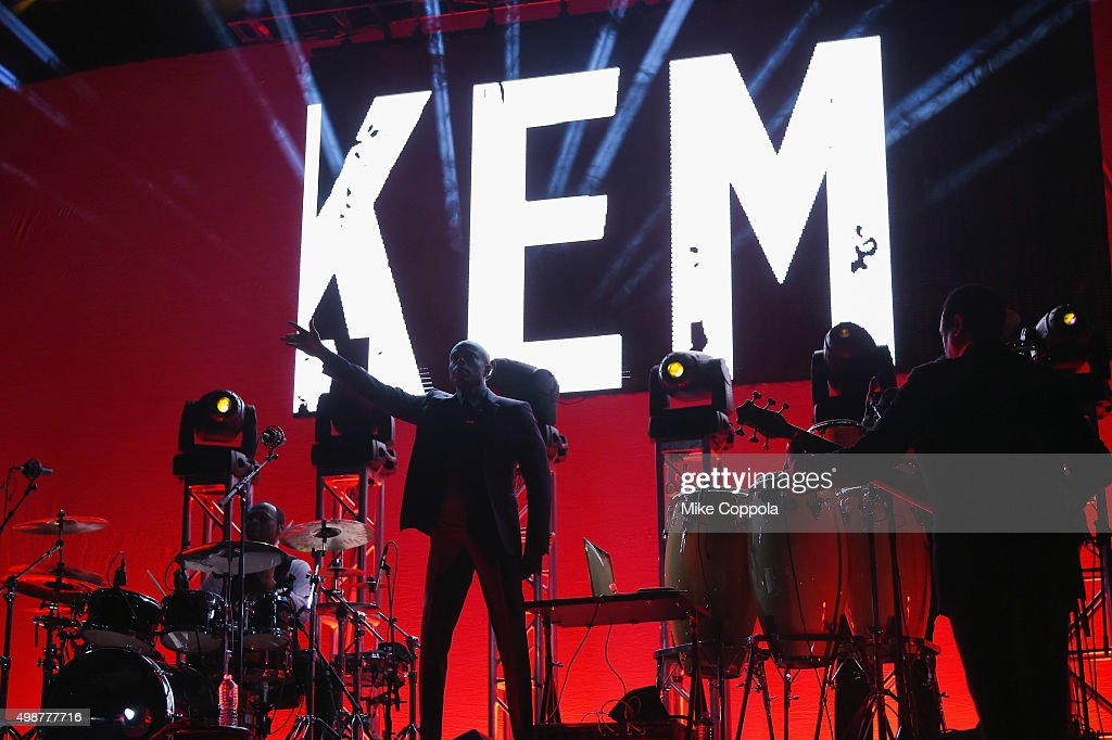 Musician KEM performs in concert at The Theater at Madison Square Garden on November 25 2015 in New York City