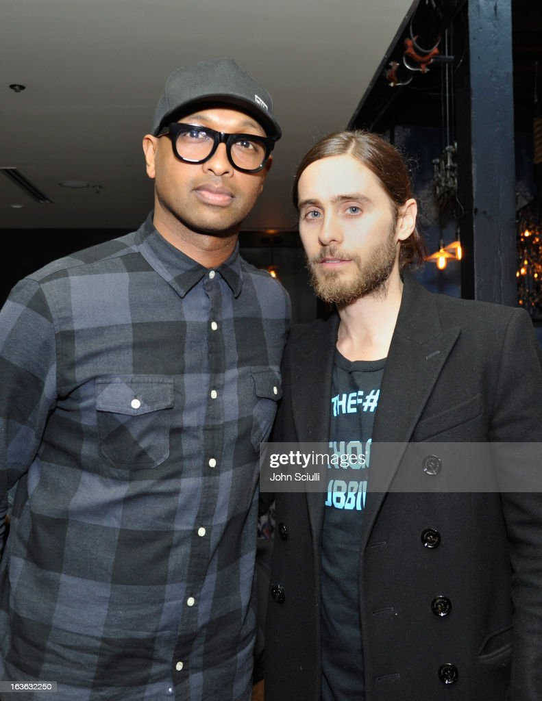 Musician Kenna and director <a gi-track='captionPersonalityLinkClicked' href=/galleries/search?phrase=Jared+Leto&family=editorial&specificpeople=214764 ng-click='$event.stopPropagation()'>Jared Leto</a> attend the Samsung Galaxy 'Artifact' after party at SXSW on March 13, 2013 in Austin, Texas.