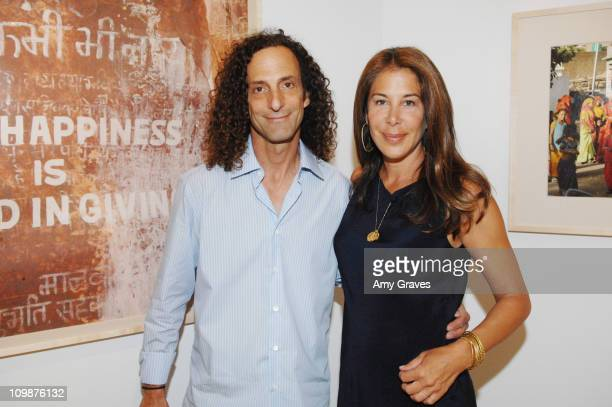Musician Kenny G and Photographer Lyndie Benson at Roseark presents India by Lyndie Benson on May 19 2009 in West Hollywood California