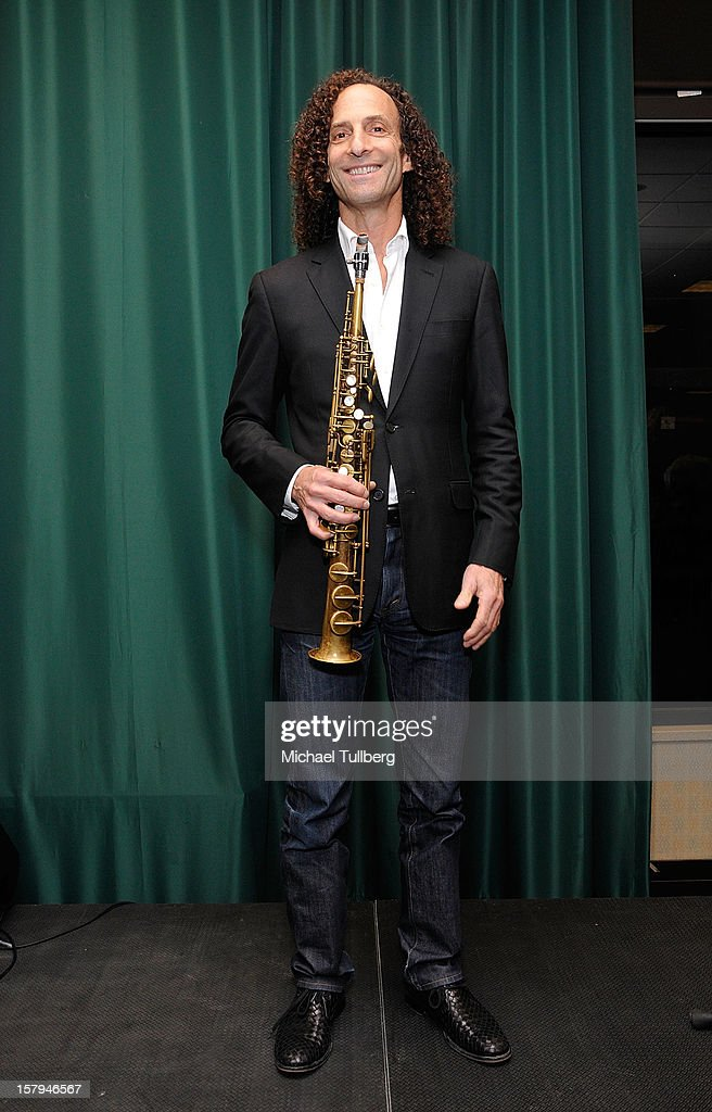 Musician Kenny G attends a reading of the new Christmas children's book 'ELFBOT' at The Americana at Brand on December 7, 2012 in Glendale, California.