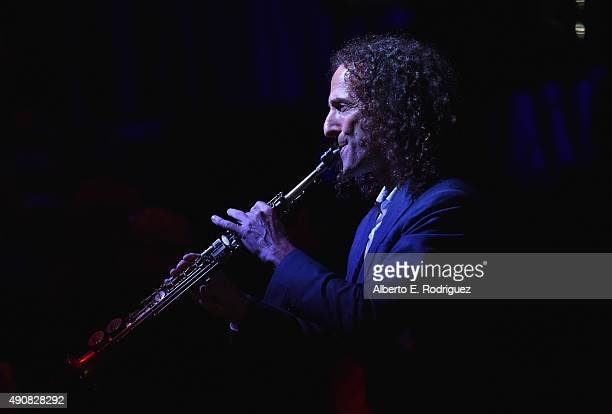Musician Kenny G performs at the 2015 LA's Promise Gala at Universal Studios Hollywood on September 30 2015 in Universal City California