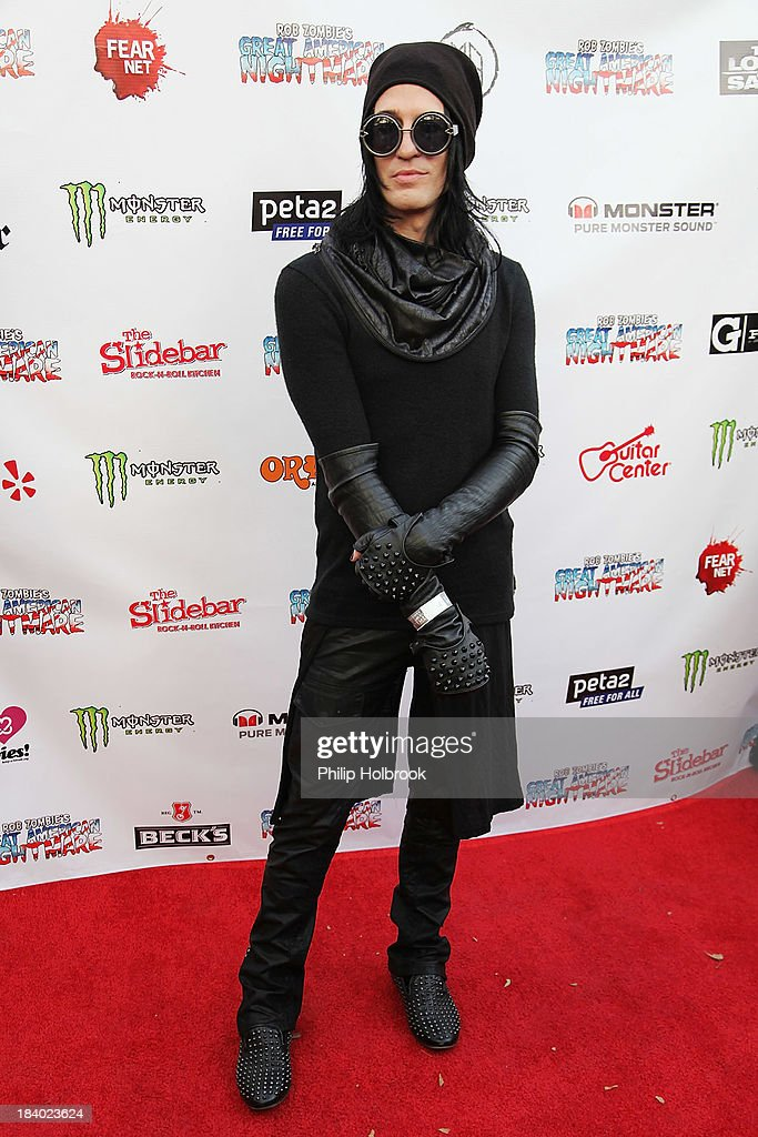 Musician Kenny Kweens arrives at the VIP opening night party at Rob Zombie's Great American Nightmare held at the Fairplex on October 10, 2013 in Pomona, California
