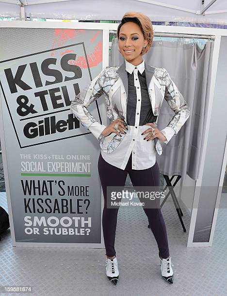 Musician Keri Hilson helps kick off Gillette's 15city Kiss Tell Live Experiment at Pacific Park at the Santa Monica Pier by asking women which kiss...