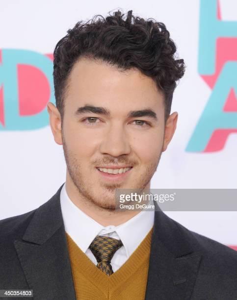 Musician Kevin Jonas arrives at the 2013 TeenNick HALO Awards at the Hollywood Palladium on November 17 2013 in Hollywood California