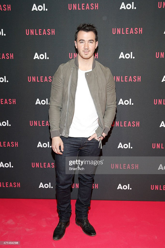 Musician <a gi-track='captionPersonalityLinkClicked' href=/galleries/search?phrase=Kevin+Jonas&family=editorial&specificpeople=709547 ng-click='$event.stopPropagation()'>Kevin Jonas</a> of the Jonas Brothers attends the AOL 2015 Newfront on April 28, 2015 in New York City.