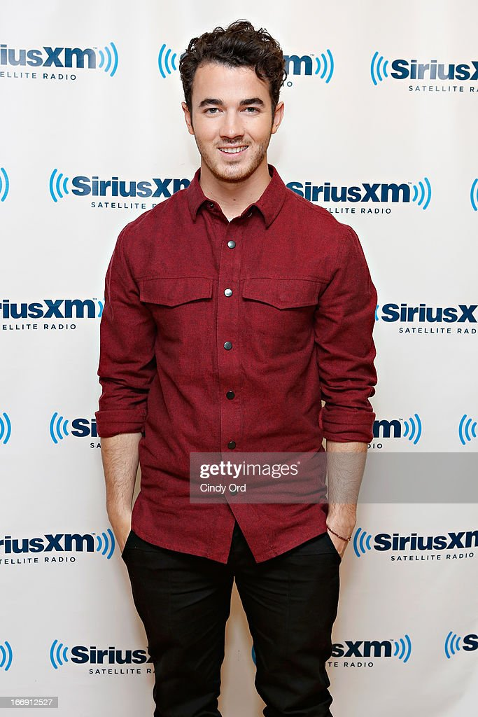 Musician <a gi-track='captionPersonalityLinkClicked' href=/galleries/search?phrase=Kevin+Jonas&family=editorial&specificpeople=709547 ng-click='$event.stopPropagation()'>Kevin Jonas</a> visits the SiriusXM Studios on April 18, 2013 in New York City.