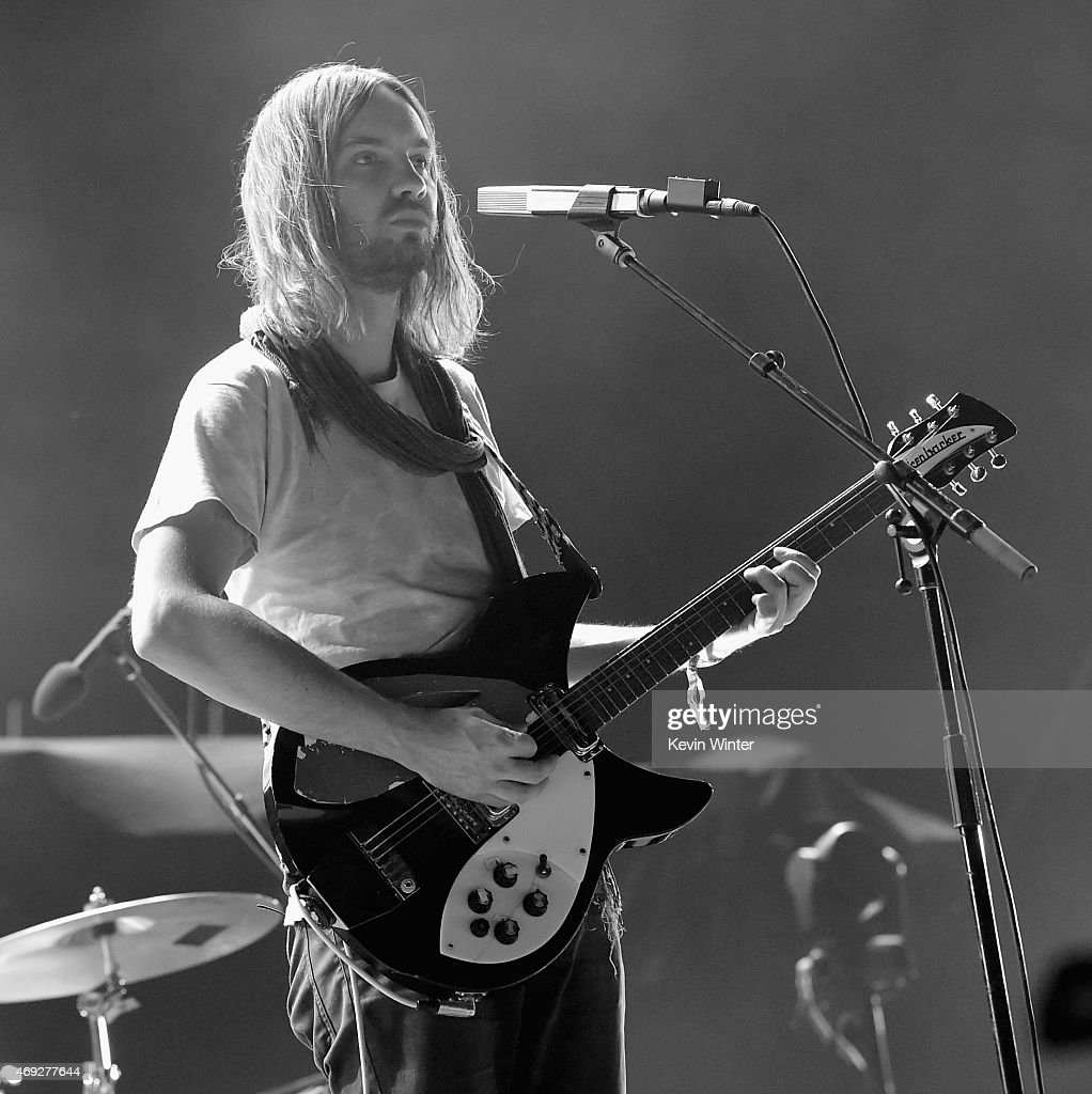 Musician Kevin Parker of Tame Impala performs onstage during day 1 of the 2015 Coachella Valley Music Arts Festival at The Empire Polo Club on April...