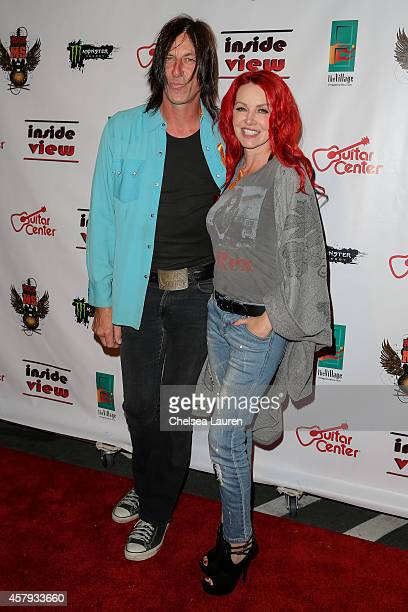Musician Kevin Starr and actress Gretchen Bonaduce arrive at an evening of art with Billy Morrison and Joey Feldman benefiting the Rock Against MS...