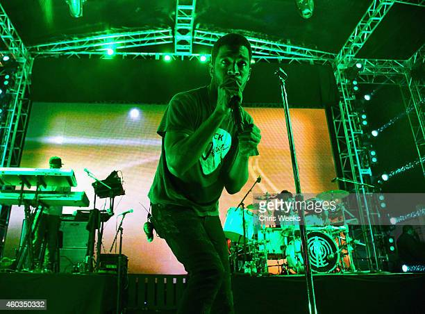 Musician Kid Cudi performs onstage during Coach Backstage Rodeo Drive on December 11 2014 in Beverly Hills California