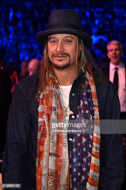 Musician Kid Rock attends the 31st Annual Rock And Roll Hall Of Fame Induction Ceremony at Barclays Center of Brooklyn on April 8 2016 in New York...