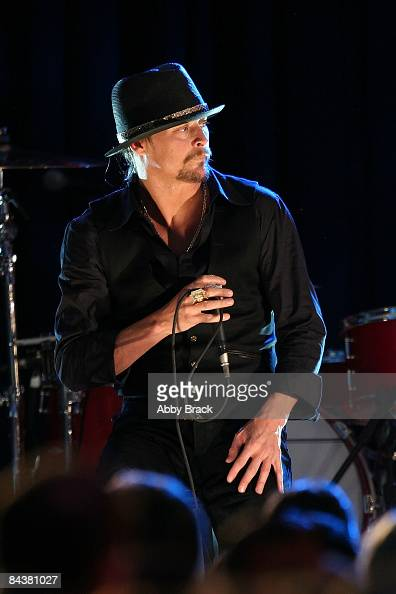 Musician Kid Rock performs during MTV ServiceNation Live From The Youth Inaugural Ball at the Hilton Washington on January 20 2009 in Washington DC...