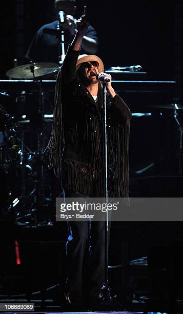 Musician Kid Rock performs onstage at the 44th Annual CMA Awards at the Bridgestone Arena on November 10 2010 in Nashville Tennessee